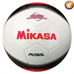 Futsal ball, #4, white / black / red