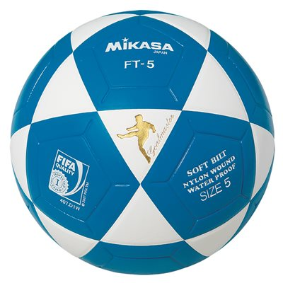 Ballon officiel de footvolley, #5, blanc / bleu