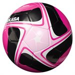 Ballon de soccer cuir synth. rose & noir
