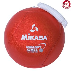 Tetherball, cushioned cover, red